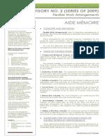 Aide Memoire (DOLE Advisory 02-09)