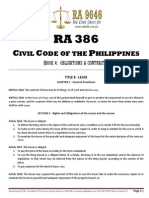 RA 386 - Civil Code of the Philippines (Book 4 - Obligations & Contracts [Title 8 - Lease])