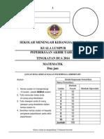 Matematik Tingkatan 2 2014