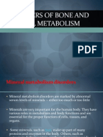 Disorders of Bone and Mineral Metabolism