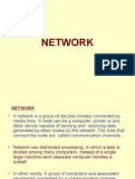 NETWORK • a Network is a Group of Devices (Nodes)