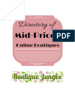 Directory of Mid-Priced Online Boutiques
