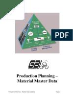 W06 PP Master Data