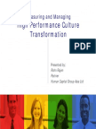 High Performance Culture Transformation