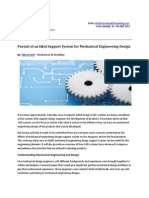 Pursuit of an Ideal Support System for Mechanical Engineering Design