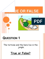TRUE OR FALSE TORTOISE AND HARE.pptx
