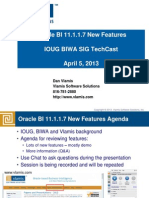 Oracle BI 11.1.1.7 New