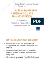 DSIT_Appraisal Frameworks for Assessing Inclusive Transport Design