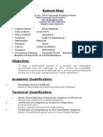 Nadeem Khan Curriculum_vita