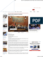 Egypt's Draft Constitution Translated _ Egypt Independen