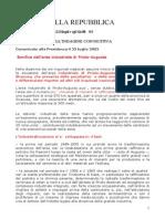 Genchi 2002 23 Luglio Area Ad Alto Rischio Ambientalepriolo Augusta a Senato Della Repubblica