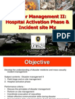 Disaster Mx 2 Incident Site & Hospital Activation Phase