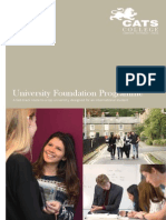 UFP Programme Flyer CATS College