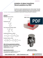 Characterization of Glass Transitions of Different Polymers by DSC
