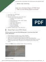 Essay Topics for UPSC