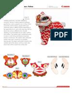 Papercraft Lion Dance / Barogsai