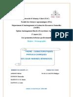 Caracteristique Physico Chimeque Des Eau Marine Beninoise