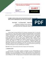 Fabrication of Silane Nanocrystalline Cellulose Bio Nanocomposites for the Abatement of Arsenic