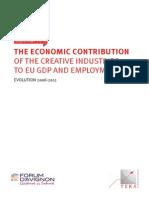 Les contributions des industries créatives à l'économie de l'UE (en anglais)
