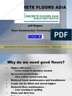 Specifications for Good Quality Concrete Floor - Tolerance REV J