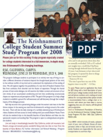 2008 Ojai K Student Program