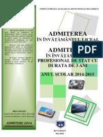 Brosura Admitere 2014-15