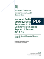 National Pollinator Strategy Government Response to the Committees Second Report of Session 2014
