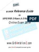 IBPS RRB CWE III Quick Reference Guide 2014