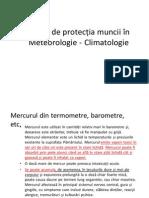 Reguli de Protectia Muncii in Meteorologie - Climatologie