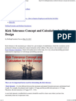 Kick Tolerance Concept and Calculation for Well Design