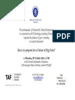 Invitation to debate Future of Big Data 30/10/14