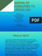 Transfer of Responsibilities NGO LGU