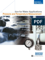 Pressure & Temperature Instrumentation for Water