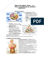 Tema 2. Los alimentos y la nutrición.