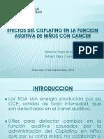 Efectos del cisplatino en la funcion auditiva de.pptx