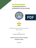 Internship Report  on Habib Metropolitan Limited (HMB) 2014