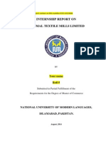 Internship Report on Kamal Limited 2014