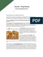 Vimanas – King Ravana  Ancient Flying Matchiens (VI)