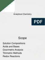 Analytic Chemistry
