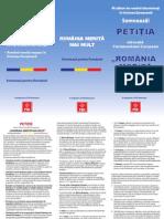 Petitie Romania Merita Mai Mult