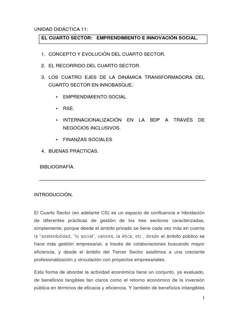 El cuarto sector..pdf | Sustainability | European Union