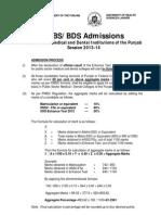 Admission 2013