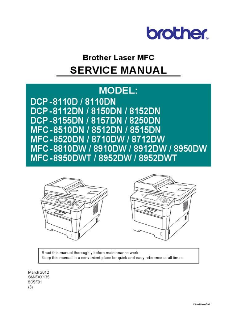 Brother mfc-8520dn service manual онлайн [279/373].