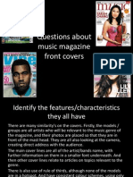 Music magazine front cover questions.