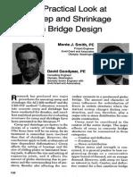 A Practical Look at Creep Shrinkage in Bridge Design