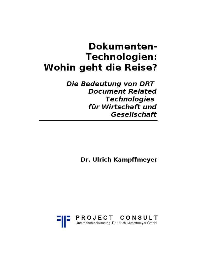 DE] Dokumenten-Technologien: Wohin geht die Reise? Ulrich ...