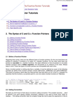 The Function Pointer Tutorials - Syntax