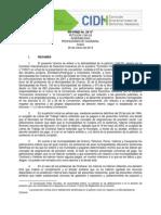 CIDH. Informe admisibilidad denuncia contra Estado de Chile por deuda histórica a Profesores