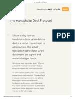 The Handshake Deal Protocol