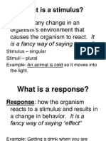 stimulus and response pp 2013